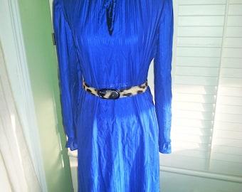 Vintage dress, vintage dress, vintage blue dress, 1970's blue dress,
