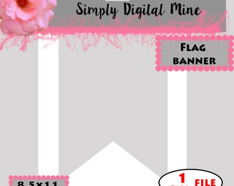 flag banner template etsy