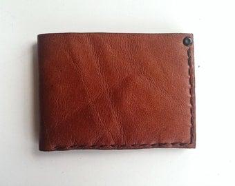 Handmade Brown Leather Wallet