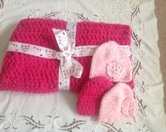 Soft and cuddly crocheted baby blanket SALE