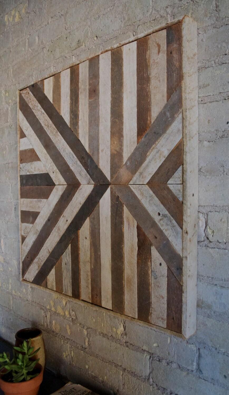 Reclaimed Wood Wall Art Lath Triangle by EleventyOneStudio ...