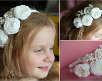 Custome made flower headband