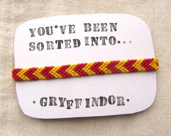 Gryffindor House Friendship Bracelet - Harry Potter Inspired