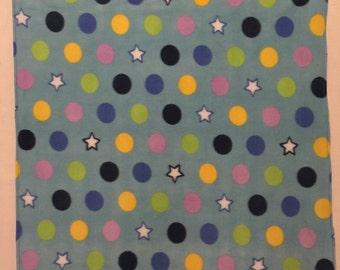 Stars and Circles Baby Blanket