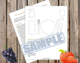 Children's Dining Etiquette: Manners Review and Dot‐to‐Dot Practice Table Setting - INSTANT PDF DOWNLOAD - 2 Pages
