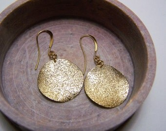gold plated earrings with gold plated disc charm
