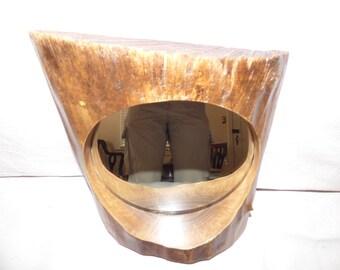 Rustic Log Mirror