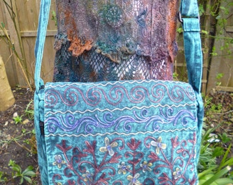 Hippy, hippie , festival, Pixie, Fairy , Tie Dye ,Shoulder bag, Embroidered Bag