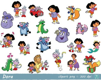 Dora the Explorer - clip art images - instant download digital file - PNG