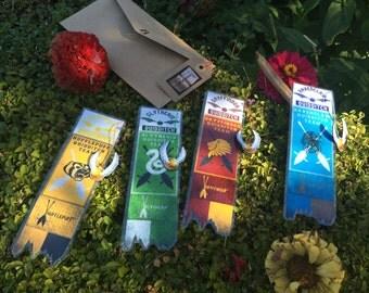 Harry Potter Quidditch Team//Handmade: Bookmark