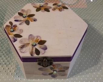 Purple crocus trinket box