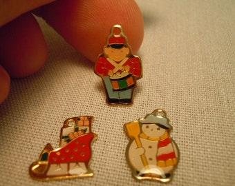 Miniature Christmas Ornament ~ Soldier ~ Snowman ~ Sleigh ~ Tree Decoration ~  Holiday Decoration ~ Miniature ~ Fairy garden ~ Dollhouse