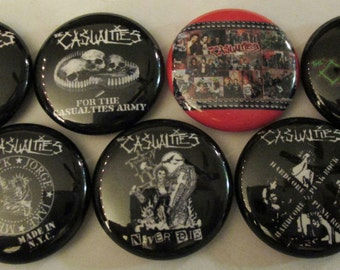 """CASUALTIES ( THE ) 1"""" Button Lot Of 14 punk rock buttons badges pins pinback Free Shipping"""