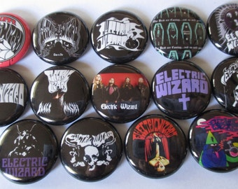 """ELECTRIC WIZARD 1"""" Button Lot Of 14 punk buttons badges pinback button Free Shipping"""