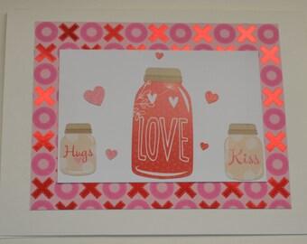 Handmade Valentine's Day Card. Love card. Greeting card.