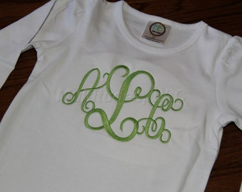 Girls Monogrammed Shirt