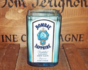 Upcycled Bombay Sapphire Gin Candle