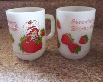 Vintage Strawberry Shortcake Mugs