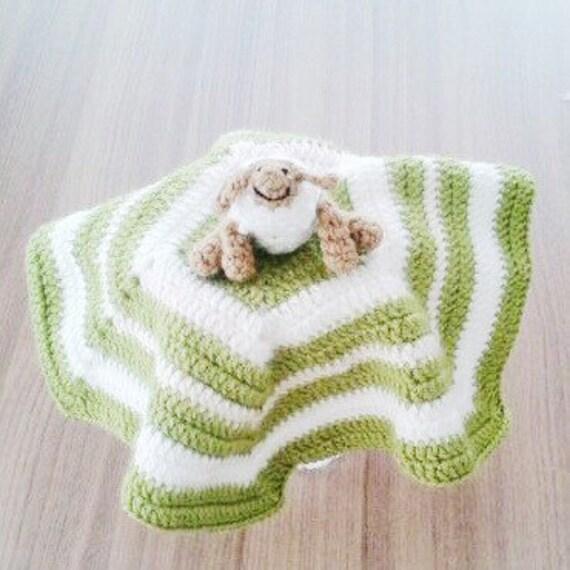 Amigurumi Baby Blanket : Amigurumi Sheep Baby Security Blanket Sheep Toy by knitmint