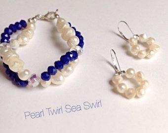 Twirl bracelet and matching earrings
