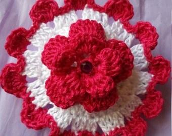 Crocheted Sachet, Crocheted Flower, Potpourri