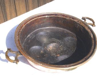 Copper Cake Tin, 1930's French Vintage