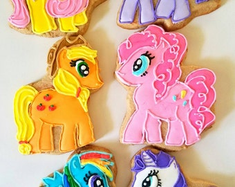 My little pony cookies (12 extra large cookies)