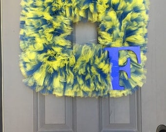 Dual Color Wreath with Letter