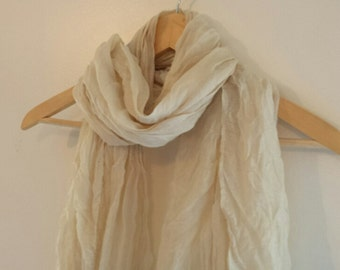 Silk Linen Scarf - Spring /Summer /Autumn Sacrf - Smooth Silk Linen Scarf