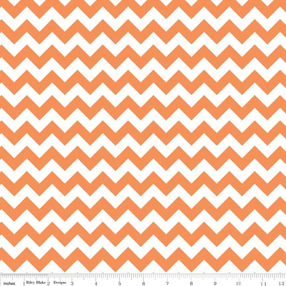 Orange and White Chevron Small by Riley Blake Designs - Quilting ...