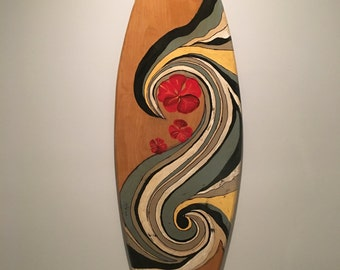 Vintage surfboard - replica surfboard - vintage surf board - decorative surf boards - surf decor - decorative surfboards