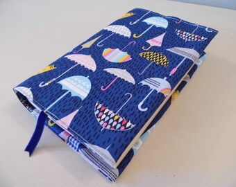Under My Umbrellas Handmade Fabric Book Cover