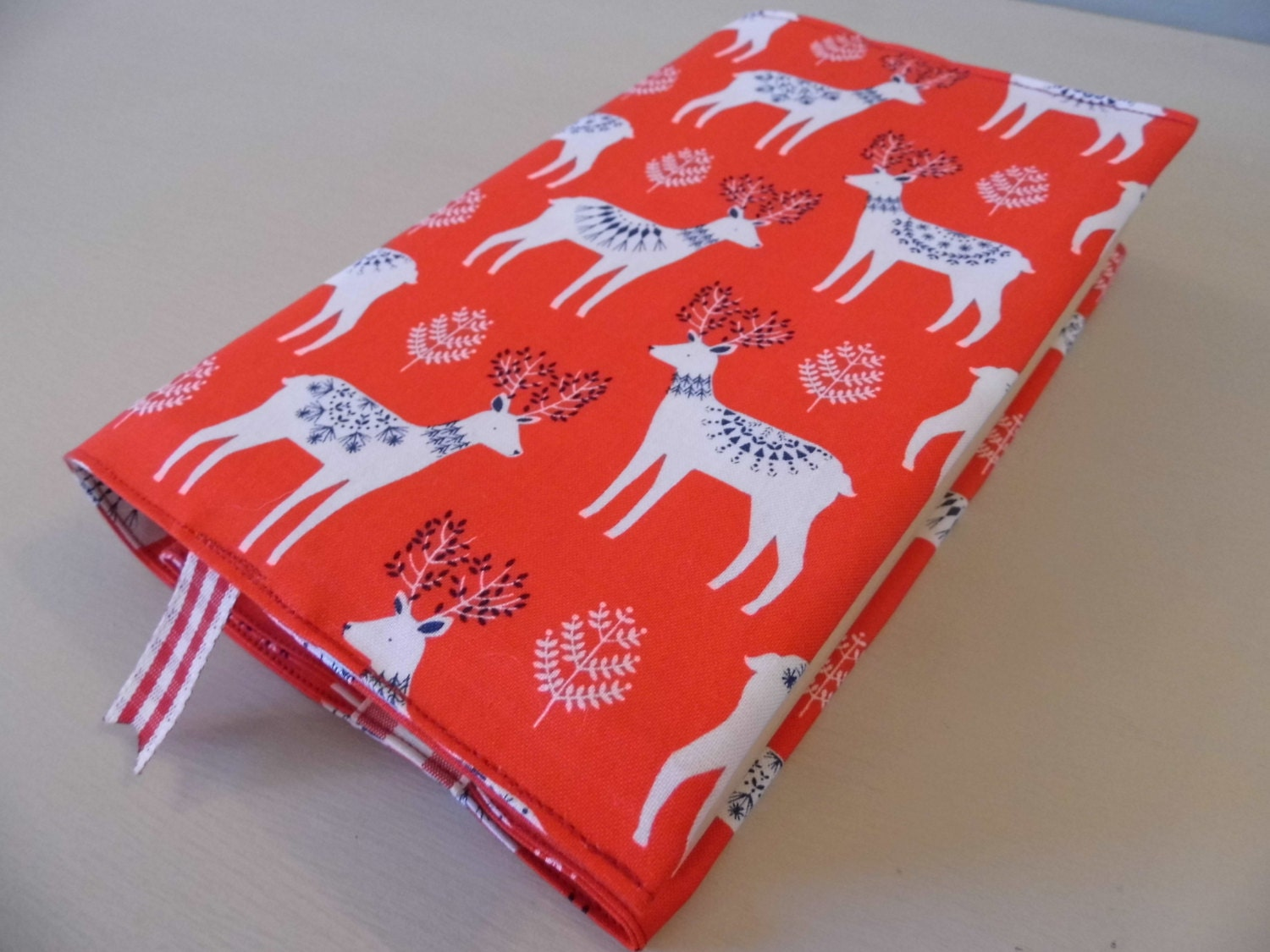 Cloth Book Covers For Sale : Sale oh deer handmade fabric book cover