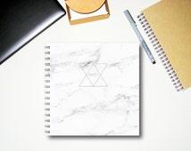 Marble Notebook - Notebook - Handmade Journal - Diary - Sketchbook - Gift for men - Writing journal - College Journal