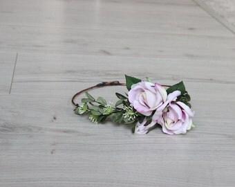 Romantic Pink Rose Flower Crown