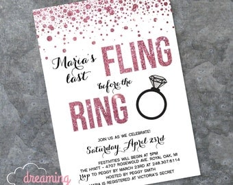 Fling before the Ring Bachelorette Party Invitation