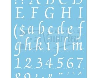 """Stencil - Complete Alphabet 1-1/4"""" high - ST-154"""