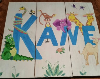 Personalized hand painted children's art
