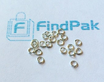 50 pcs 925 Sterling Silver Jump Rings 3mm | 54-Sil
