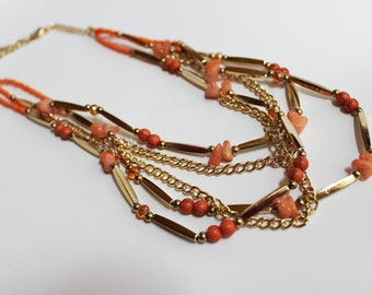 Coral Chain Necklace