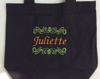 Personalized Cotton Trick or Treat Tote Bag