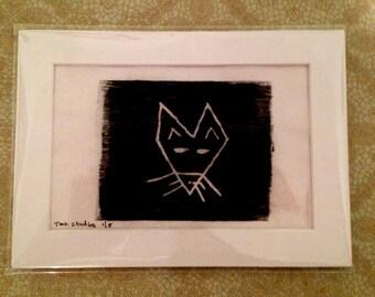 Sale Foxy - Wood Block Print