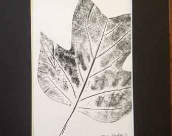 Leaves of Spring Monoprint #5