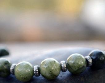Jasper bracelet, Beaded saguaro jasper bracelet, Genuine jasper bracelet, Jasper jewelry, Jasper bijoux, Buy one get one free.