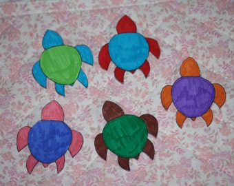 Colour Block Turtle Stickers