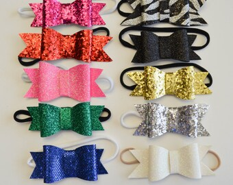 Glitter headband bows-Standard USA FREE SHIP