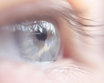 See what I see, fine art photography print. Reflection in the eye