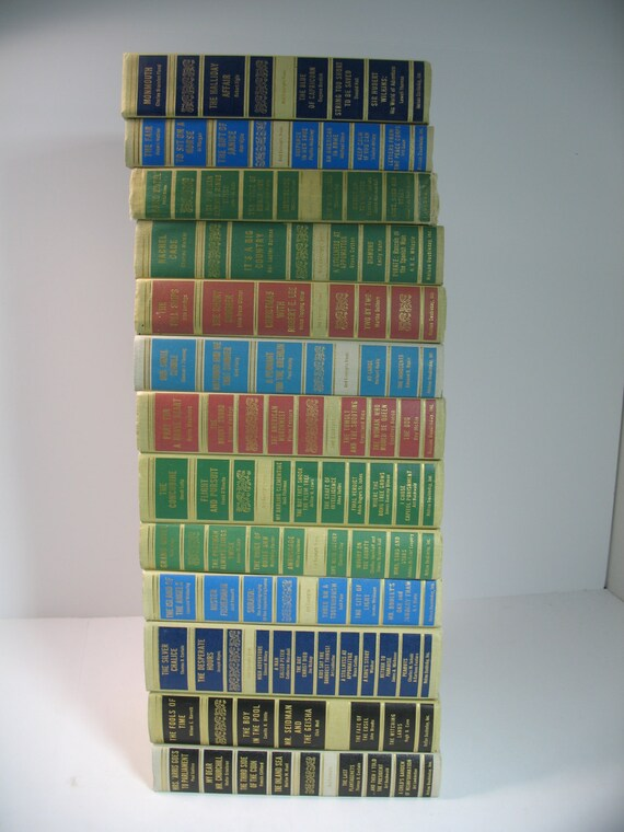 Vintage antique 13 books decorative display set by - Decorative books for display ...