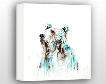 Bear Art For The Home, Woodland Wildlife Decor, Limited Edition Gallery Wrapped Canvas