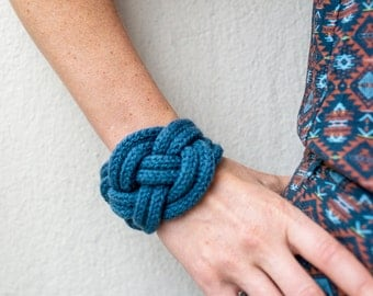 Bow bracelet marin color jeans blue